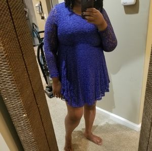 H&M Dresses - Royal Blue Lace Dress
